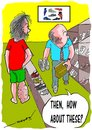 Cartoon: shopping 4 shoes (small) by kar2nist tagged filariasis,shoe,purchase,swelling