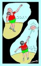 Cartoon: Shot-Phut (small) by kar2nist tagged shotput,sport,throw