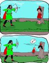 Cartoon: William Tell (small) by kar2nist tagged william,tell,archer,boy,apple