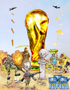 Cartoon: World Cup - South Africa 2010 (small) by Majdoub Abdelwaheb tagged world,cup