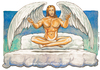 Cartoon: Angels (small) by Niessen tagged jesus christus engel wolke himmel bett