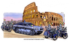Cartoon: Escort service in rome (small) by Niessen tagged tank police politicians rome bmw escort motorcycle