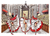 Cartoon: Gay pride in Vaticano (small) by Niessen tagged san pietro ballare can preti gay dance priests tanzen priester homosexuell