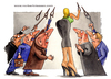 Cartoon: The center of universe (small) by Niessen tagged culo,femmina,donna,guardoni,occhi,tram,uomini,hintern,weiblich,frau,voyeure,augen,straßenbahn,männer,ass,female,woman,voyeurs,eyes,men
