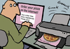 Cartoon: Internetpizza 2 (small) by Mistviech tagged pizzapitch
