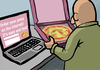 Cartoon: Pizza aus dem Internet (small) by Mistviech tagged pizzapitch