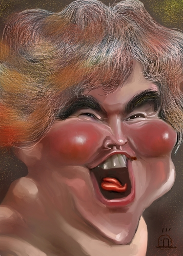 Cartoon: Susan Boyle (medium) by drljevicdarko tagged susan,boyle
