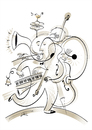 Cartoon: one man band (small) by Herme tagged musicians band one man