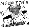 Cartoon: Bauchschmerz am Muttertag (small) by BiSch tagged muttertag,mother,mutter,mama,herumtrampeln
