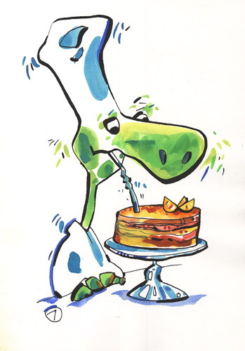 Cartoon: CAKE WITH RUM (medium) by Kestutis tagged adventure,siaulytis,kestutis,rum,cake,turtle,chef,food,pirate,strip