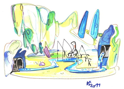 Cartoon: ECOLOGY (medium) by Kestutis tagged ecology,environment,nature,recreation,relaxation,angler