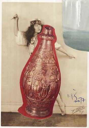Cartoon: Ewer with the Muses (medium) by Kestutis tagged ewer,muses,dada,postcard,theater,actor,art,kunst,kestutis,lithuania