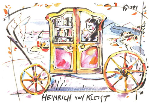 Cartoon: HEINRICH VON KLEIST (medium) by Kestutis tagged heinrich,von,kleist,travel,reise