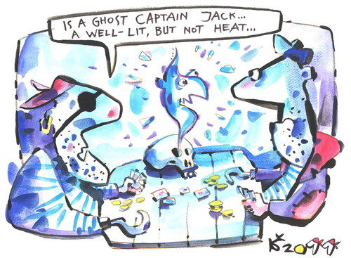 Cartoon: PIRATE PARTY (medium) by Kestutis tagged pirate,adventures,ghost,halloween