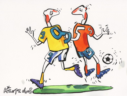 Cartoon: SOCCER and NUMEROLOGY (medium) by Kestutis tagged sports,fussball,euro,2012,football,fußball,soccer,numerology