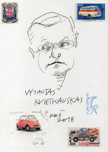 Cartoon: Vytautas Kvietkauskas (medium) by Kestutis tagged journalist,sketch,kestutis,lithuania