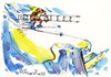 Cartoon: Alpine skiing (small) by Kestutis tagged alpine skiing winter sports kestutis lithuania olympic sochi 2014 gebirge mountains snow schnee