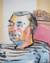 Cartoon: Antanas Razmus (small) by Kestutis tagged sketch,art,kunst,kestutis,lithuania,watercolor