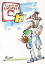Cartoon: BASKETBALL AND HUMOR (small) by Kestutis tagged basketball,sports,post,lettrr,message,epistle,brief,humor