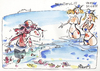 Cartoon: BEACH ADVENTURE (small) by Kestutis tagged cap jellyfish happening qualle sea beach adventure help beautiful very nice man woman