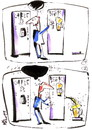 Cartoon: COFFEE AND BEER (small) by Kestutis tagged beer coffee humour