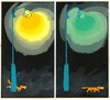Cartoon: Dog at night (small) by Kestutis tagged dogs
