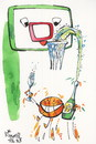 Cartoon: Good luck! (small) by Kestutis tagged good,luck,fans,new,year,sports,humor,basketball,christmas,champagne,kestutis,lithuania