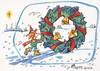 Cartoon: Journey to Christmas (small) by Kestutis tagged elf winter journey kestutis weihnachten reise christmas