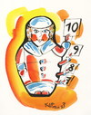 Cartoon: Juri (small) by Kestutis tagged juri winter sports matryoshka kestutis lithuania sochi 2014 olympic