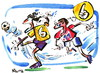 Cartoon: MOMENT BY FOULS (small) by Kestutis tagged fouls,football,soccer,fußball,2012,euro,fussball,numerology,six,number,sport,ball,shirt