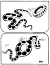 Cartoon: NATURE and CIVILIZATION (small) by Kestutis tagged snake,nature,civilization