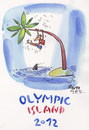 Cartoon: OLYMPIC ISLAND. Gymnastics (small) by Kestutis tagged gymnastics,olympics,ocean,palm,london,2012,desert,island,shark,kestutis,lithuania,siaulytis,sport