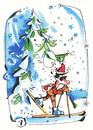 Cartoon: Olympic year! (small) by Kestutis tagged olympic year winter sports sochi snow schnee tanne fir kappe cap skier number kestutis lithuania