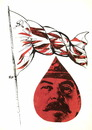 Cartoon: Red flag (small) by Kestutis tagged red,flag,rote,fahne,lithuania,kestutis,ussr,stalin