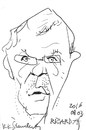 Cartoon: Ricardas Jakutis - art collector (small) by Kestutis tagged art,lithuania,kestutis
