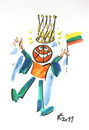 Cartoon: ROYAL BASKETBALL (small) by Kestutis tagged basketball flag crown fans fiesta kestutis lithuania