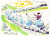 Cartoon: Snowboarding. Snow train (small) by Kestutis tagged snowboarding snow train winter olympic sports sochi 2014 kestutis lithuania