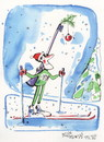 Cartoon: Winter Olympic. Biathlon (small) by Kestutis tagged biathlon winter sports olympic sochi 2014 fir kestutis lithuania snow