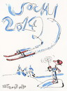 Cartoon: Winter Olympic. Freestyle skiing (small) by Kestutis tagged freestyle skiing winter sports olympic sochi 2014 kestutis lithuania