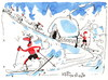 Cartoon: Winter Olympic. Nordic combined. (small) by Kestutis tagged winter olympic games sochi 2014 kestutis lithuania sauna