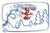 Cartoon: Winter Olympic. Snowboarding (small) by Kestutis tagged snowboarding winter olympic sports fir snow sochi 2014 kestutis lithuania
