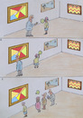 Cartoon: galerija -gallery (small) by Zoran tagged gallery,art