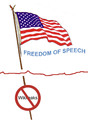 Cartoon: usa-vikileaks (small) by Zoran tagged usa,vikileaks,freedom,of,speach