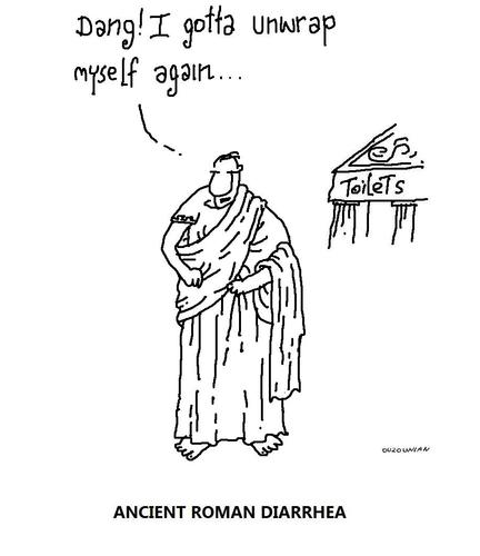 Cartoon: ancient rome and stuff (medium) by ouzounian tagged togas,ancient,rome