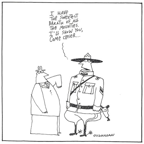 Cartoon: life in canada (medium) by ouzounian tagged mounties,canada