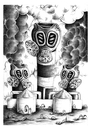 Cartoon: Chimneys and masks (small) by dragas tagged dragas,pancevo,serbia,nature,ecological,destruction