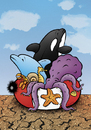 Cartoon: Salvation (small) by dragas tagged dragas pancevo serbia fish sea drought lifesave killer whale dolphin