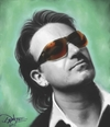 Cartoon: Bono Digital Painting by Dante (small) by Dante tagged bono u2 caricature portrait dante
