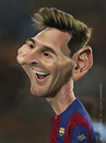 Cartoon: Lionel Andres Leo Messi (small) by areztoon tagged caricature karikatur fcb barca barcelona argentina