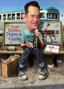 Cartoon: Tom Hanks - Still waiting on bus (small) by RodneyPike tagged tom hanks movie actor forrest gump art caricature humor illustration manipulation photo photomanipulation photoshop pike rodney rwpike digital graphic celebrity political satire